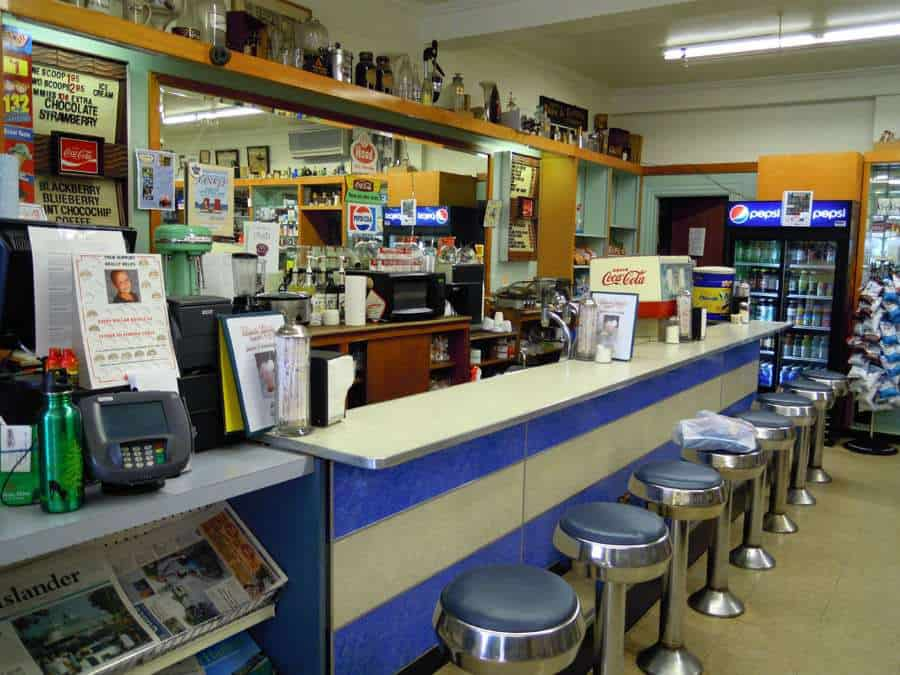 West End Drug Co Bar Harbor Maine ME Lunch Counter Soda Fountain