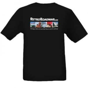 Retro Roadmap tee shirt black photos