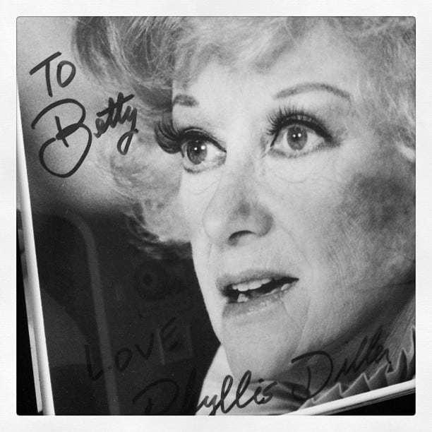 Mod Betty Phyllis Diller Photo 2011