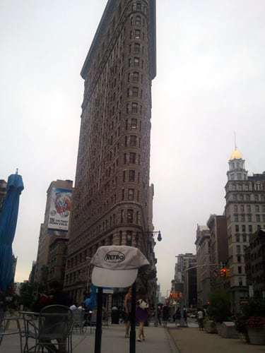 Retro Roadmap Hat Flatiron Building NYC