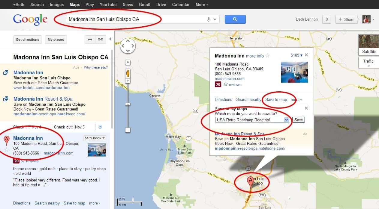 Madonna Inn San Luis Obispo CA Google Maps