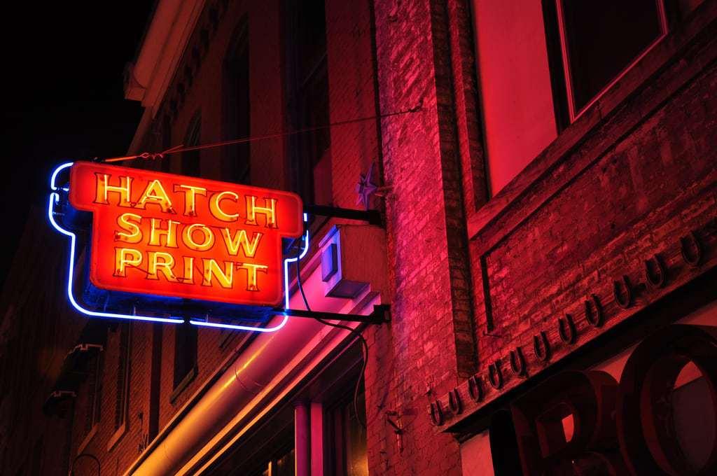 Hatch Show Print Nashville Neon 2011