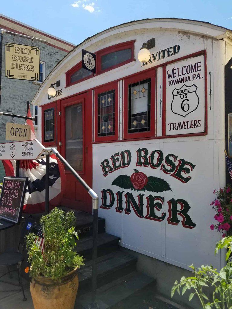Red Rose Diner Towanda PA - Joe Butrim Photograph Retro Roadmap