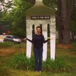 Mod Betty Comes to a Fork In The Road – Literally! Red Hook NY