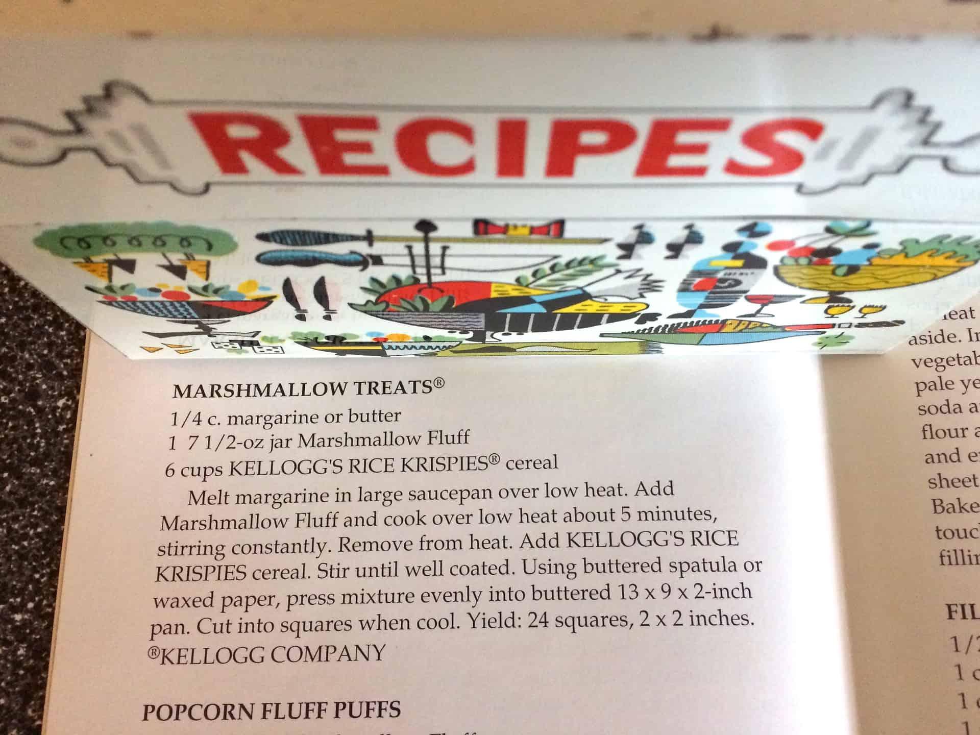 Marshmallow Fluff Rice Krispie Treats Recipe - Retro Roadmap