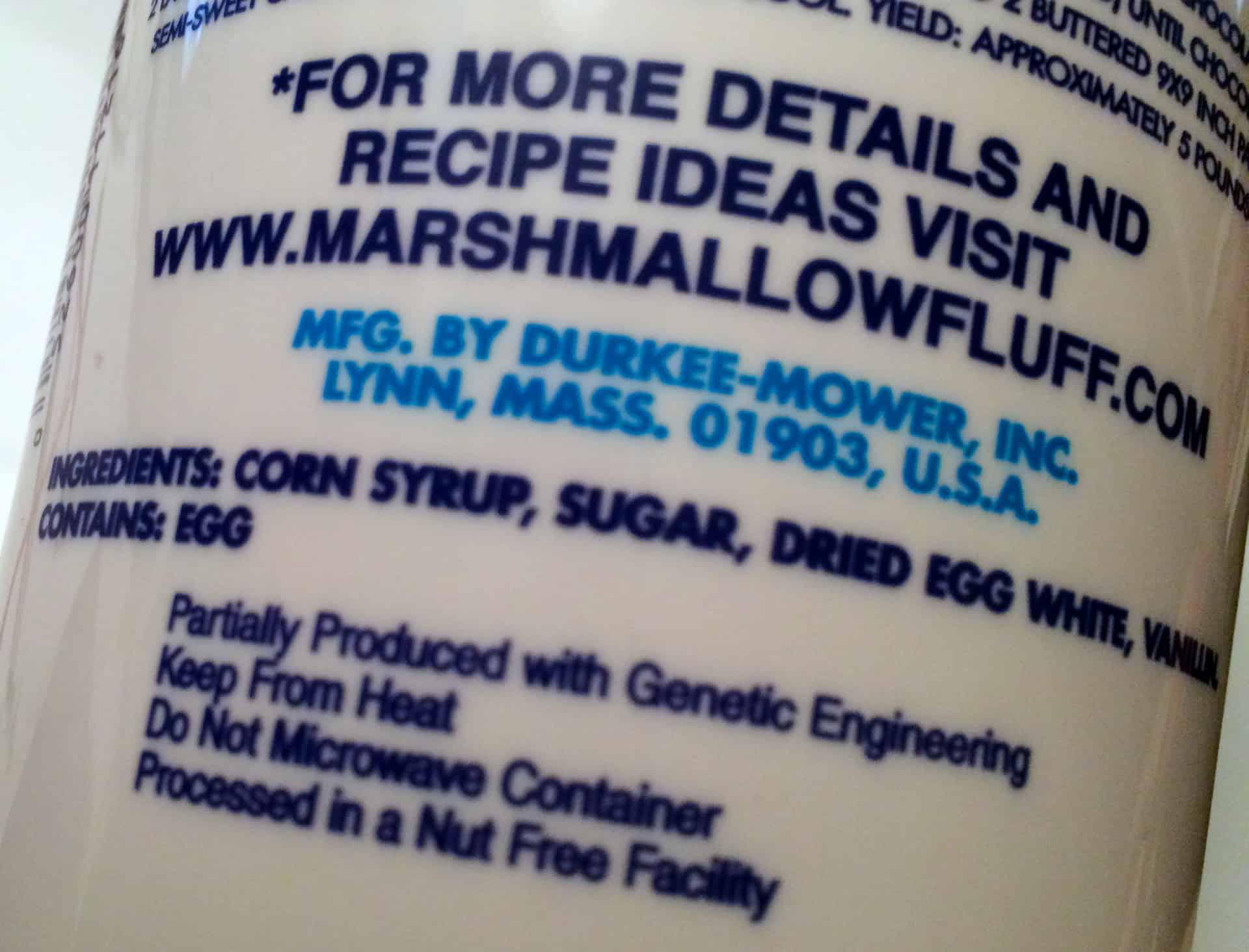 Marshmallow Fluff GMO Labeling Law - Retro Roadmap