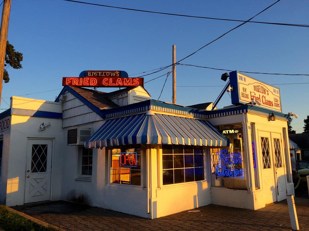 Bigelows Fried Clams Seafood Rockville Center NY Retro Roadmap