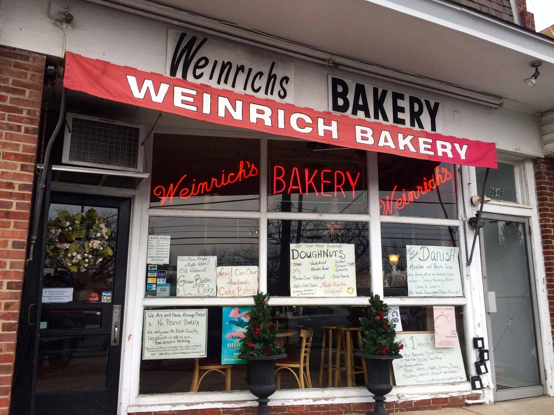 Weinrich's Bakery Newtown Square PA Pennsylvania Retro Roadmap