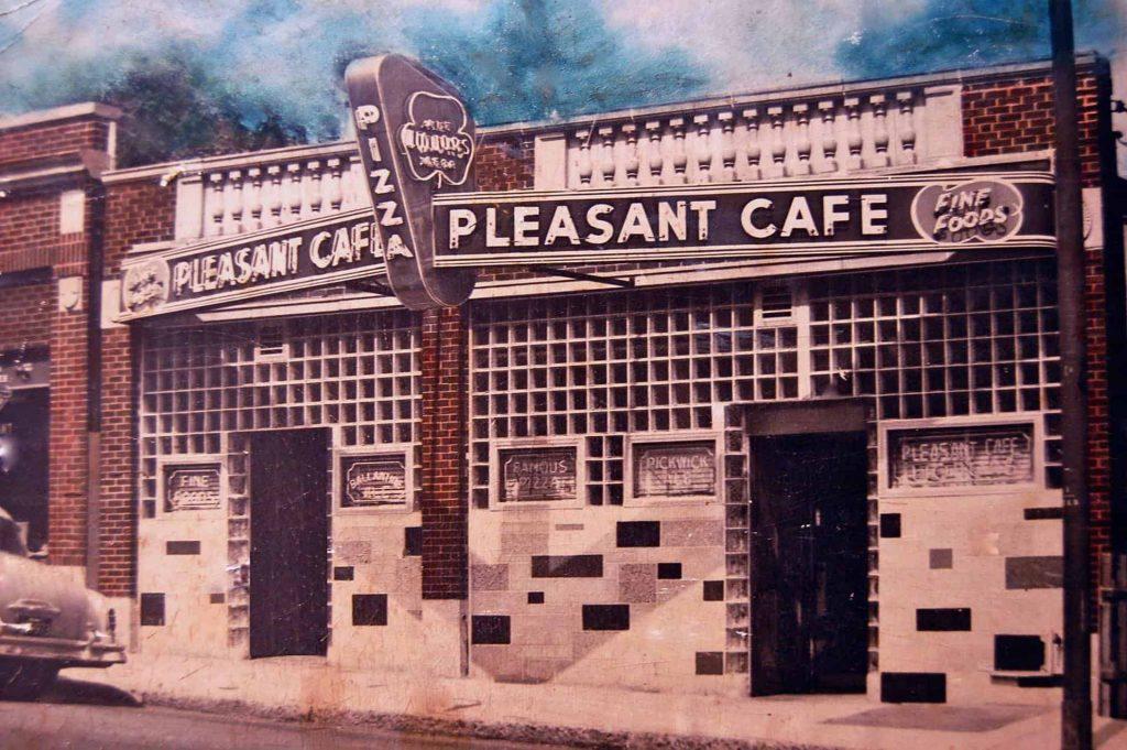 Pleasant Cafe Roslindale MA Vintage Photograph