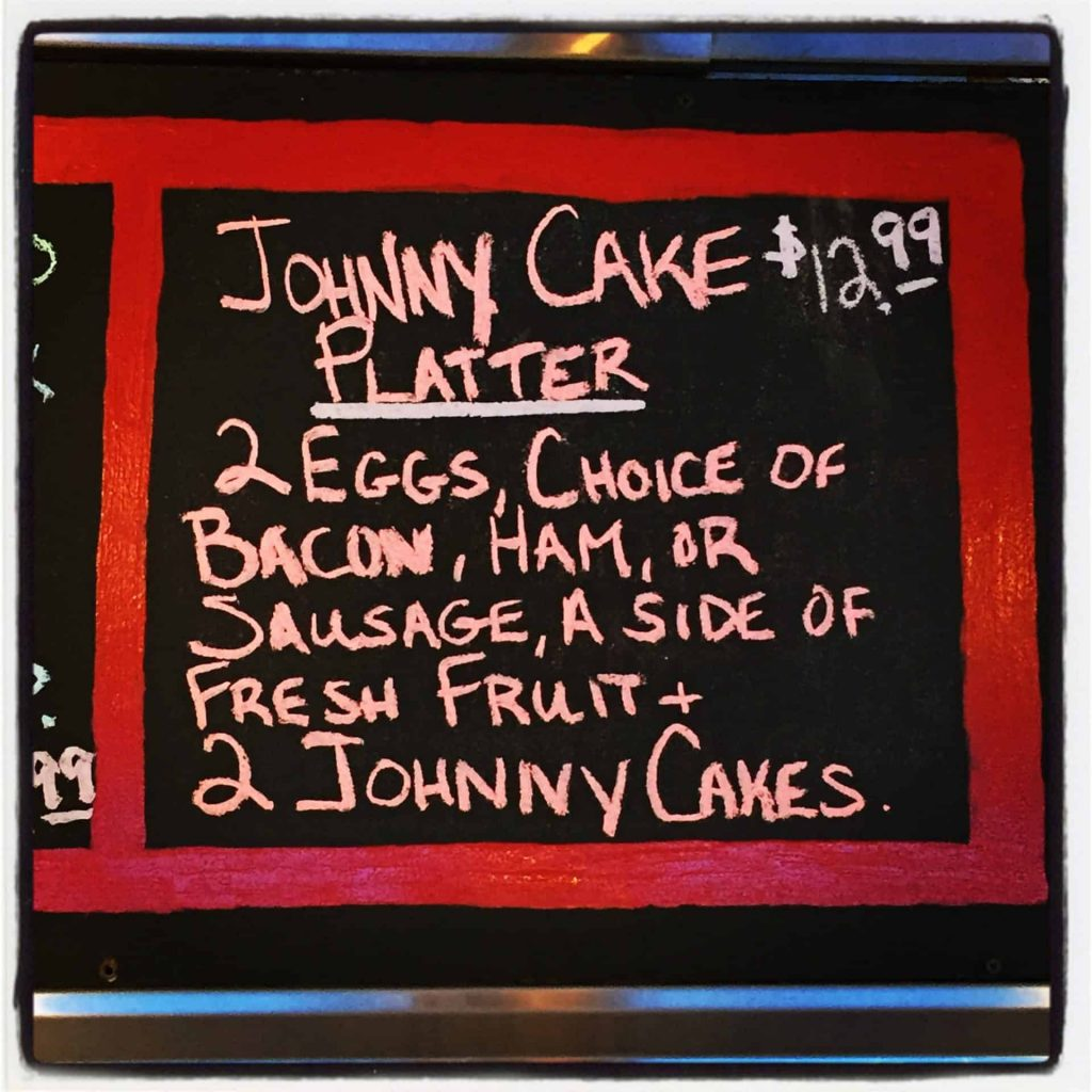 Jiggers Diner Menu Johnny Cakes Retro Roadmap
