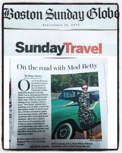 Retro Roadmap Boston Globe Mod Betty 2016 Sunday Travel