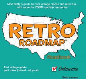 Retro Roadmap Roadbook Book Cover - Mod Betty - RetroRoadmap.com
