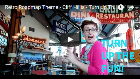 Retro Roadmap Theme Song Turn Up The Fun Cliff Hillis Video Mod Betty