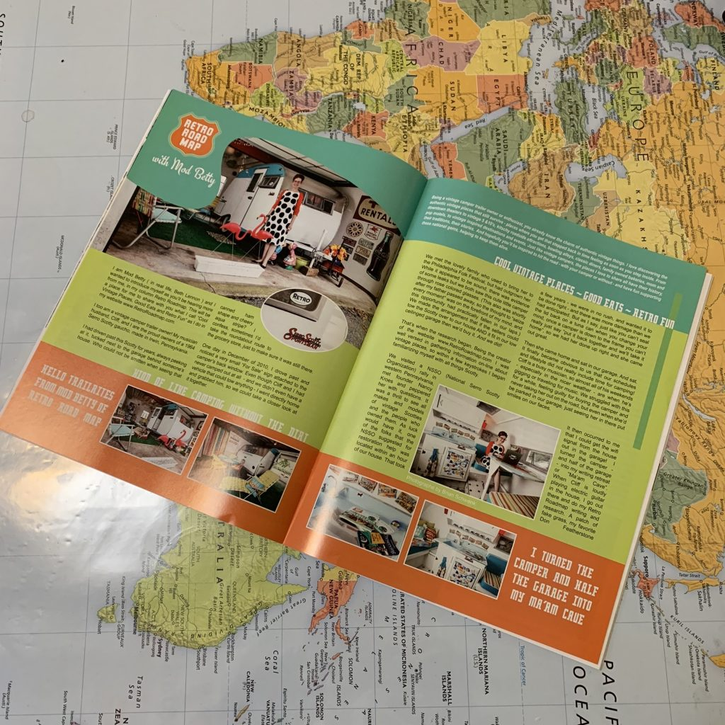 Retro Roadmap Mod Betty Vintage Camper Trailers Magazine Jan 2019