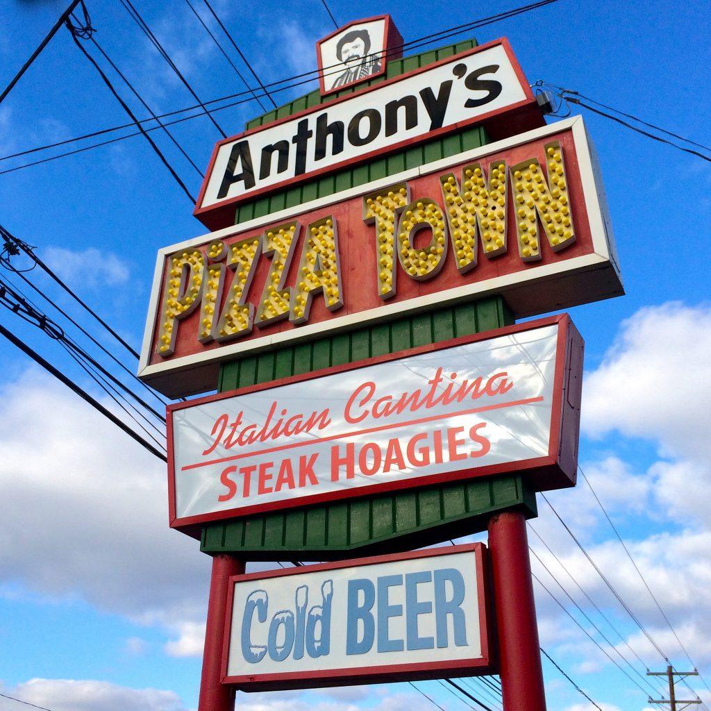 Anthonys Pizza Town Bordentown NJ Retro Roadmap