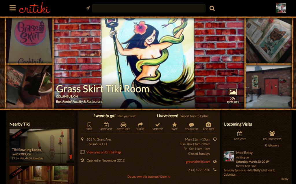 Critiki Grass Skirt Tiki Room Retro Roadmap Meet Greet