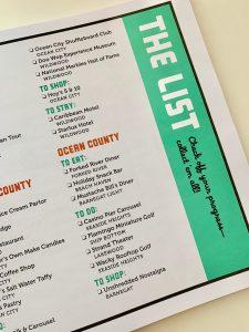 Retro Roadmap Color Roadbook South Jersey Internal Page The List