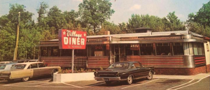 Village Diner Milford PA Vintage Photo
