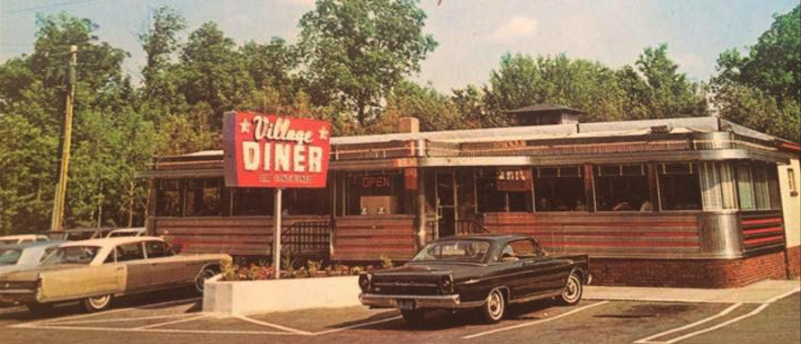 Village Diner Milford PA Vintage Photo