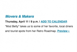 Mod Betty Retro Roadmap PBS WHYY TV Movers Makers