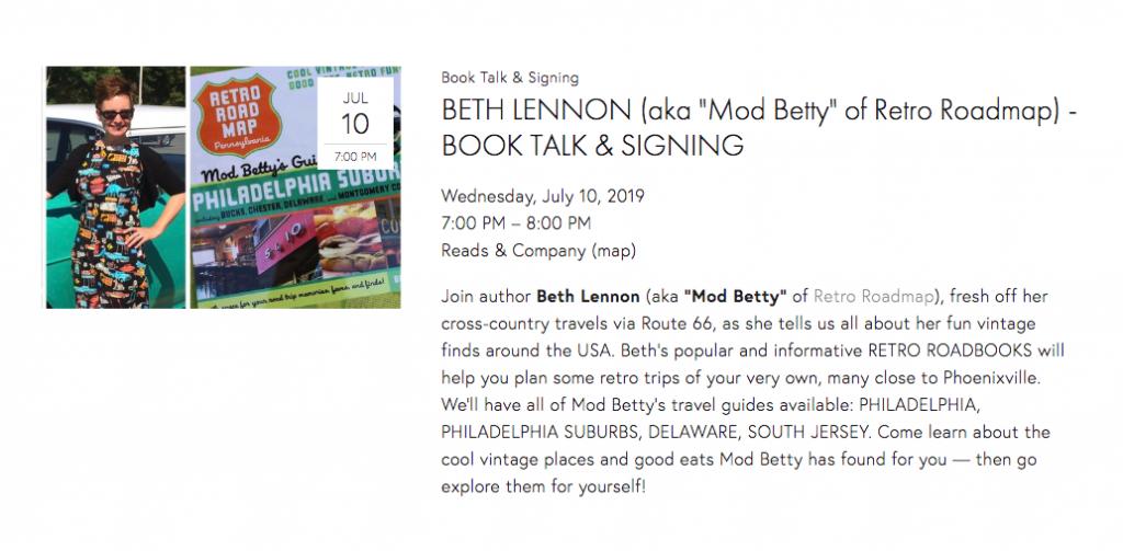 reads n company Mod Betty 2019