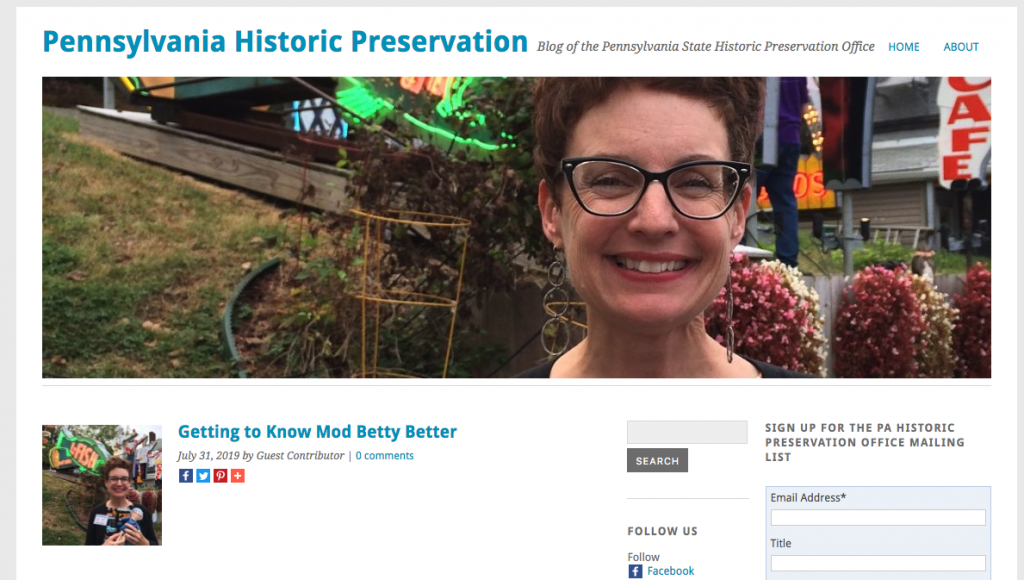 PA Historical Get To Know Mod Betty Better