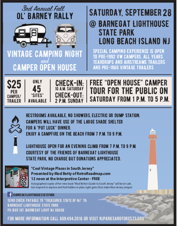 Vintage Camper Rally LBI NJ 2019 State Park