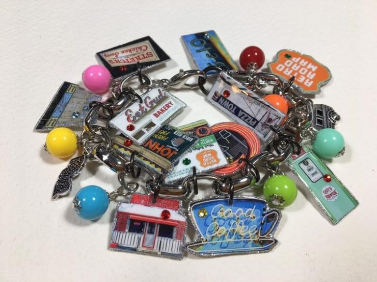 Retro Roadmap Charm Bracelet by My Aunt Debbie