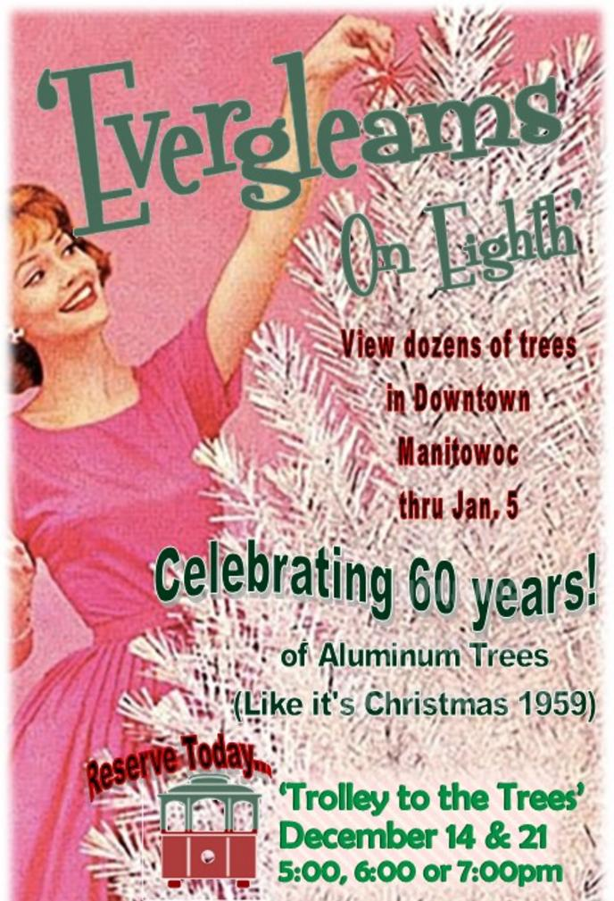 Aluminum Christmas Trees Evergleams on Eighth 2019 Retro Roadmap Manitowoc Wisconsin WI