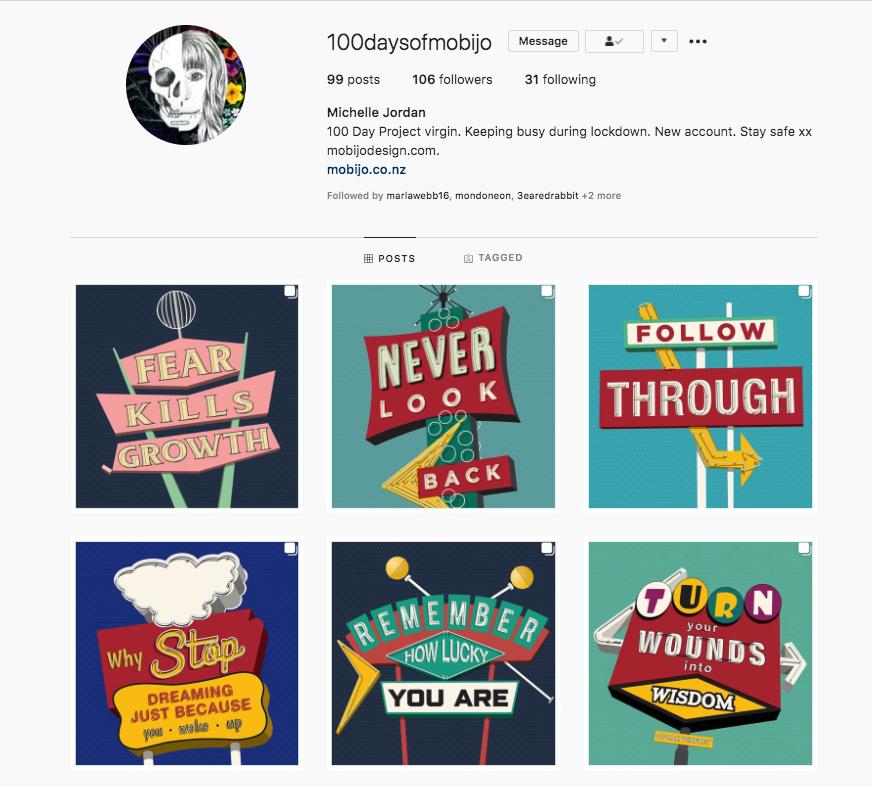 mojibo inspirational vintage signs michelle jordan instagram